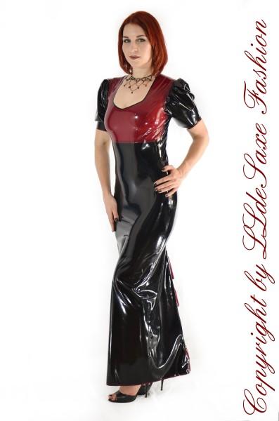 Bodenlanges Kleid mit Barockrüschen