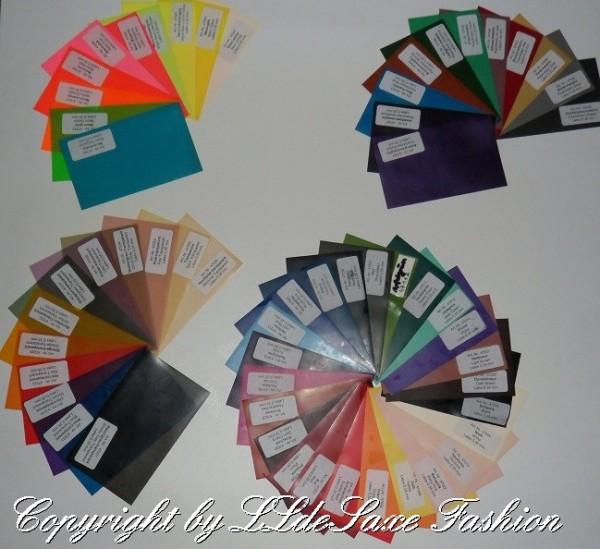 Farbmuster-Produkt-Proben