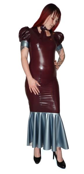 Bodenlanges Kleid mit kurzen Puffärmeln Royal Linie